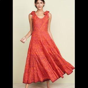 NWT Free People Kika Tie Shoulder Maxi Dress